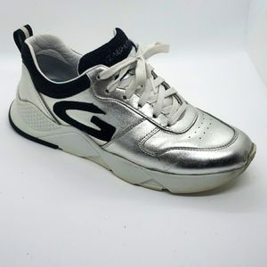 Alberto Guardiani Silver leather Sneakers